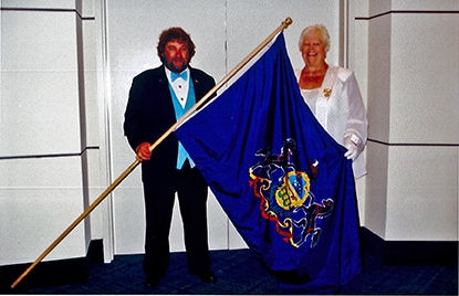 Independent Order of Odd Fellows and Rebekahs, Lady Colfax, Odd Fellows events, events, PA flag, ceremony, Leesport Odd Fellows
